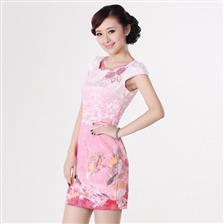 旗袍裙时尚改良夏季旗袍