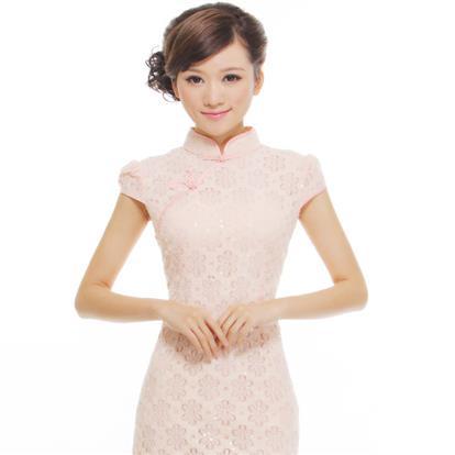 蕾丝时尚短款旗袍