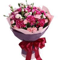 浪漫絮语----(戴安娜粉玫瑰或者玛利亚粉玫瑰)32枝,白玫瑰6枝,香槟玫瑰6枝,红玫瑰6枝