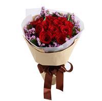 爱的诺言----红玫瑰19枝,白色腊梅2枝