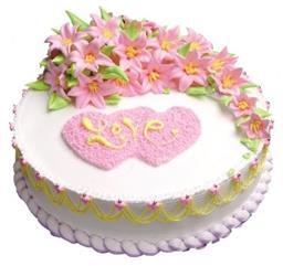 粉色玫瑰森林蛋糕