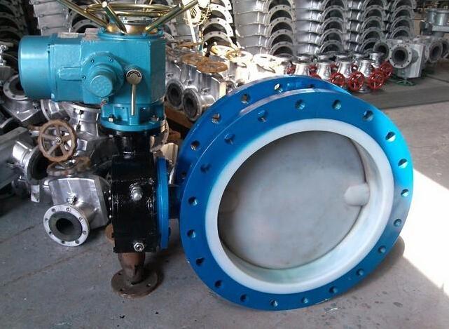 d941f46-16c电动衬氟蝶阀图片