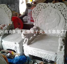 贵州翠玉石沙发大型玉石摆件