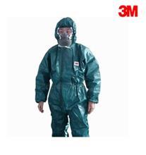 3M 4680绿色带帽连体防护服(XL)