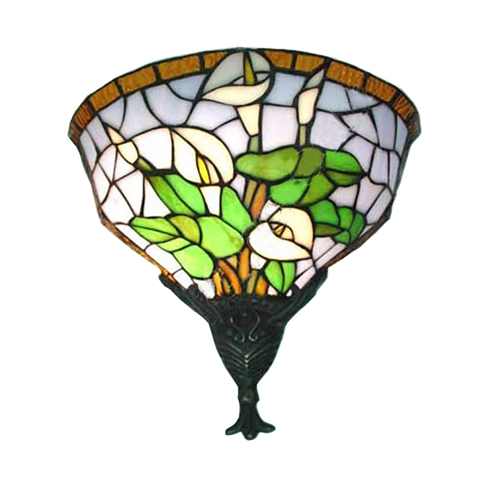 Wall Sconces Stained Glass : WL120026 12 inchTiffany wall sconce wall light stained glass art decor wall lighting jiufa ...