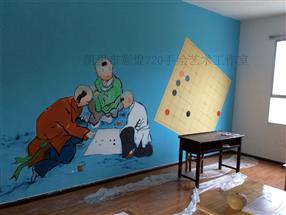 贵州黔东南3D彩绘,舞蹈教室装修手绘壁画,剑河墙画校园文化墙装饰手绘墙图片大全图片素材