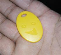 JTRFID3926 NTAG215钥匙扣504BIT存储NFC异形卡13.56MHZ高频ISO14443A协议NFC纽扣卡