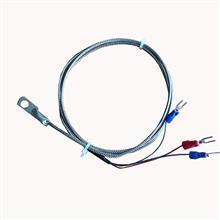 Pt100温度传感器 表面端面热电偶 冷压鼻探头 圆孔测温探头