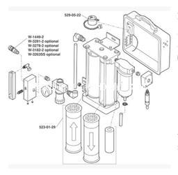 3M 256-02-00便携式压缩空气过滤调节板