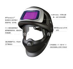3M Speedglas 9100V FX可掀起式自动变光焊接面罩 541805