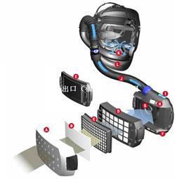 3M Adflo电动送风式Speedglas9100V FX可掀起自动变光面罩 546605