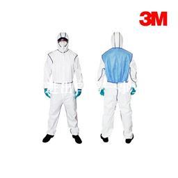 3M 4640白色带帽连体防护服