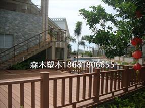 贵州塑木地板廊架护栏_贵州木塑栈道公园园林椅休闲座椅坐凳