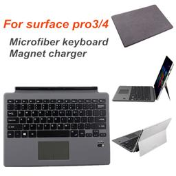 Microfiber folding cover with bluetooth keyboard for surface pro3&4