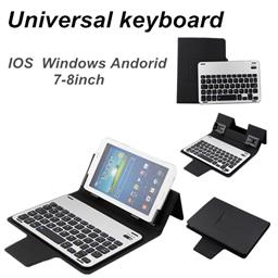 7-8inch universal bluetooth keyboard for IOS Windows Andoird System with folding case TY-1708