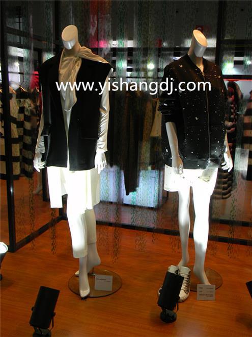 玻璃钢纤维模特道具 亮光白模特道具 高档展示模特道具