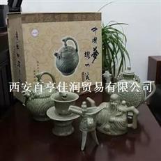 陕西耀州瓷器 西安倒流壶批发 倒流壶工艺品加工