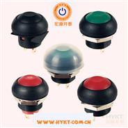 厂家直销PB12圆形带灯按钮开关,开孔12mm可复位自锁防水灯色多选