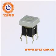 TS2方形盖带灯轻触开关吸油烟机控制板开关镭射透光电源标上盖标记可订做