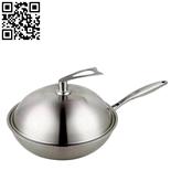 三层钢炒锅(Stainless Steel Wok)ZD-SCG04