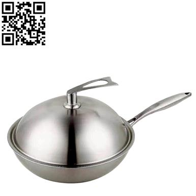 三層鋼炒鍋(Stainless Steel Wok)ZD-SCG04