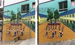 贵州黔东南/黔南/安顺/都匀/苗族彩绘 少数民族大型手绘墙 水族装饰壁画