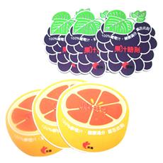 PVC滴胶水果杯垫 隔热杯垫 水果店促销礼品杯垫 可开模定制