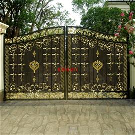 铁艺门,别墅大门,铁艺栏杆,古铜铁艺门