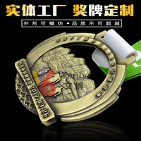 文博獎牌定制WB-170318青銅獎章設計制作運動會優秀員工獎牌制作深圳獎章