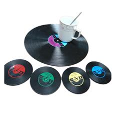 CD光盘杯垫 30CM大型唱片杯垫 可来图定制印刷LOGO