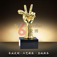 文博樹脂獎杯WB-170015中國好聲音獎杯話筒獎杯音樂獎杯深圳文博工藝制品