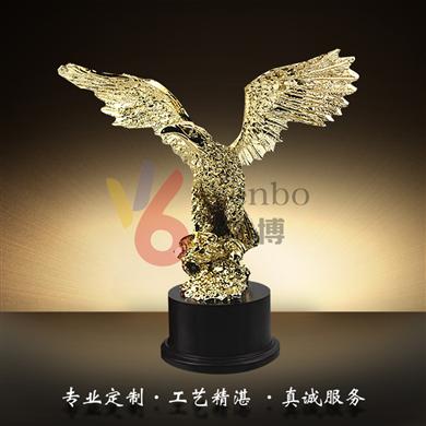 文博樹脂獎杯WB-170001鷹獎杯合金獎杯設計制作樹脂玻璃鋼獎品