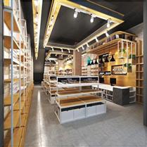 钢木结合文具店货架