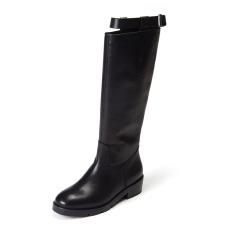 诗加美欧美2016秋冬新款真皮靴子 骑士靴马夫靴一脚蹬长筒牛皮女靴