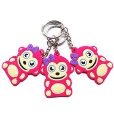 滴胶小猴子钥匙扣 PVC软胶卡通公仔锁匙链 可来图开模定制