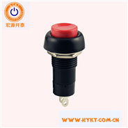 厂家直销常闭按钮开关PB10-C-R赤色按钮复位功用开孔直径12MM环保台湾入口