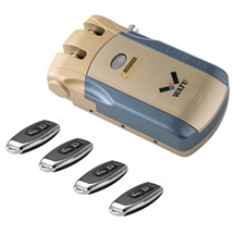 WAFU Wireless Smart Remote Control Lock Keyless Entry Lock of 433MHZ with 4 Remote Keys