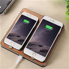 竹 木质无线充电器 苹果安卓通用 无线发射端 苹果8无线充电器 iphone8