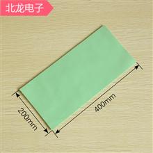 高导热软硅胶4W绿色200*400mm多种规格厚度导热软矽胶片软硅胶垫可背胶3M胶