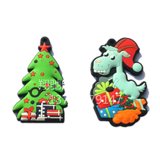PVC滴胶圣诞树钥匙扣 圣诞礼品锁匙链 可开模定制