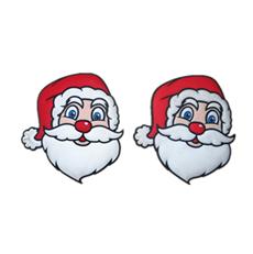 滴胶圣诞磁性冰箱贴 创意冰箱贴 pvc软胶冰箱贴 圣诞老人头冰箱贴 可开模定制