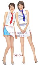 促銷服裝工廠定做夏季廣告衣女士超市商場工作員制服套裙定制LOGO