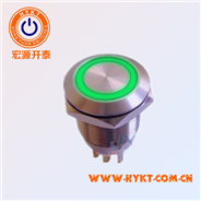 19mm金属带灯按钮开关发光开关 厂家直供带认防水IP67