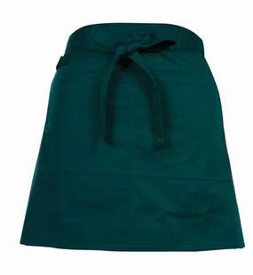餐飲圍腰韓版純色半截工作圍裙定制滌棉短款半身圍裙西餐館咖啡廳