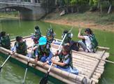 深圳农家乐亲子游玩项目水上竹筏团体活动