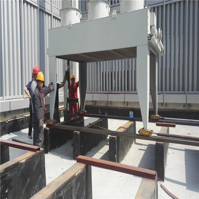 中關村一號項目樓頂水箱設備搬運,設備吊裝