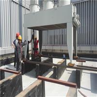 中关村一号项目楼顶水箱设备搬运,设备吊装