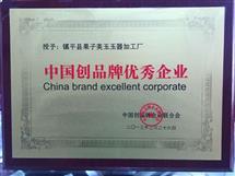 中國創品牌優秀企業