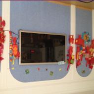 Kindergarten teaching all-in-one PC case