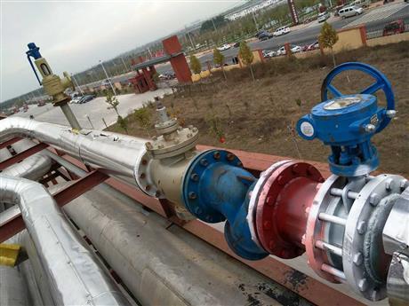 蒸汽管道现场图